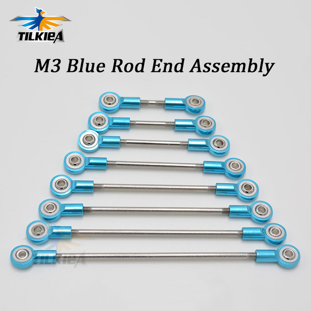 Aluminum M3 Blue Link Rod End Ball Joint  Metal Tie Rod End Assembly High Precision