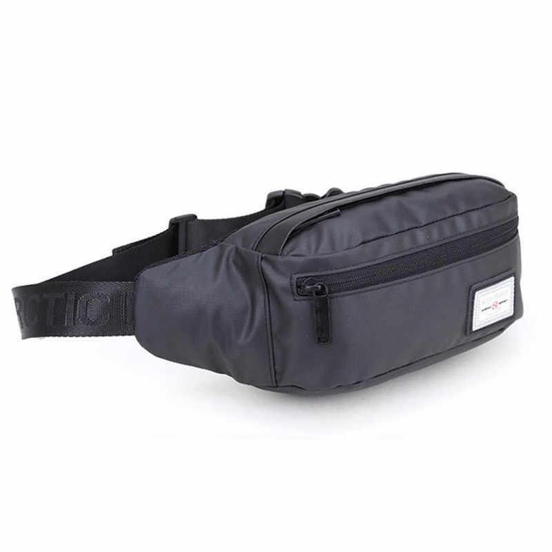 Sacoche de ceinture de style décontracté sac pour homme noir imperméable Fanny Pack Oxford argent téléphone ceinture sac adolescent voyage ceinture sac grande capacité