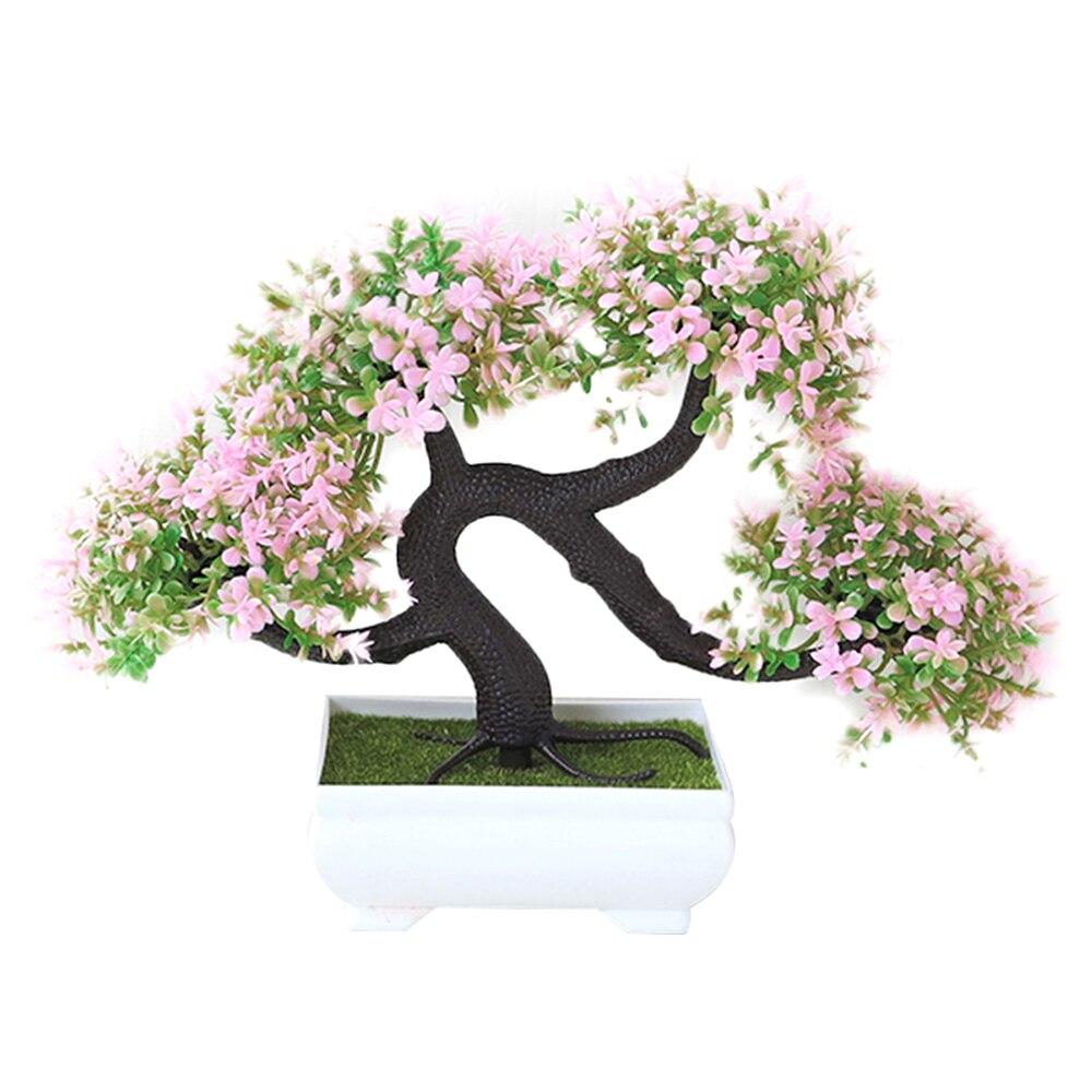 Искусственные растения искусственный цветок растения бонсай сад отель садовый декор Мода красивый ручной работы ДРАКОН борода дерево - Цвет: pink
