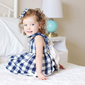 Roupas Infantil Menina Summer Newborn Girl Clothes Grid 2pcs Tshirt+Shorts Baby Girl Clothes Princess Roupa Infantil