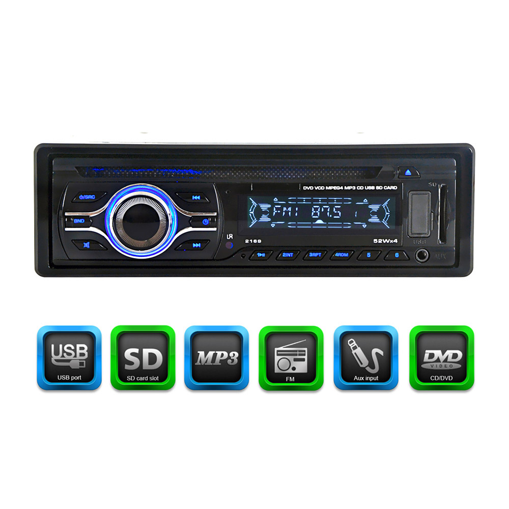 цена на Universal Car CD DVD MP3 Player Stereo Radio Player with In-Dash FM Aux Input SD/USB Port