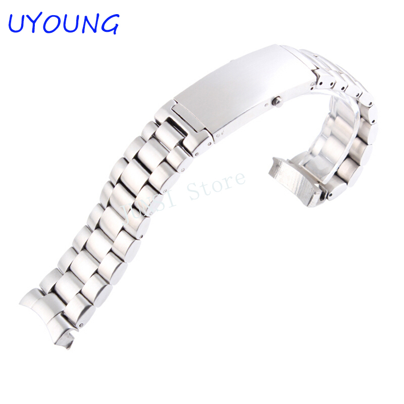 Quality Solid stainless steel Men's Watch band 20mm 22mm Luxury Bracelet For Seamaster 007 22mm solid stainless steel wristband watch bracelet silver polishing new band for armani ar0399 316l stainless steel