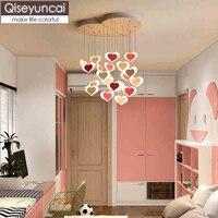 Qiseyuncai Nordic moderne minimalistischen restaurant led kronleuchter kreative warme mädchen schlafzimmer home hochzeit zimmer beleuchtung-in Deckenleuchten aus Licht & Beleuchtung bei