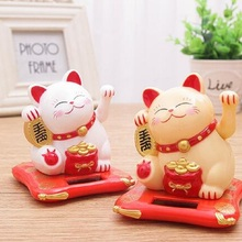 Waving Cat Oranment For Home Office Shop Decor Wealth Fortune Crafts Shaking Hands Lucky C