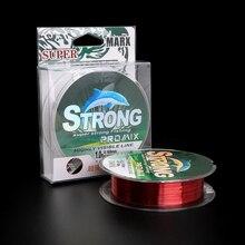 100 m Nylon ligne de pêche Super forte Nylon/Monofilament ligne matériel japonais fil pour carpe fil de pêche/cordon/chaîne 4 ~ 15LB