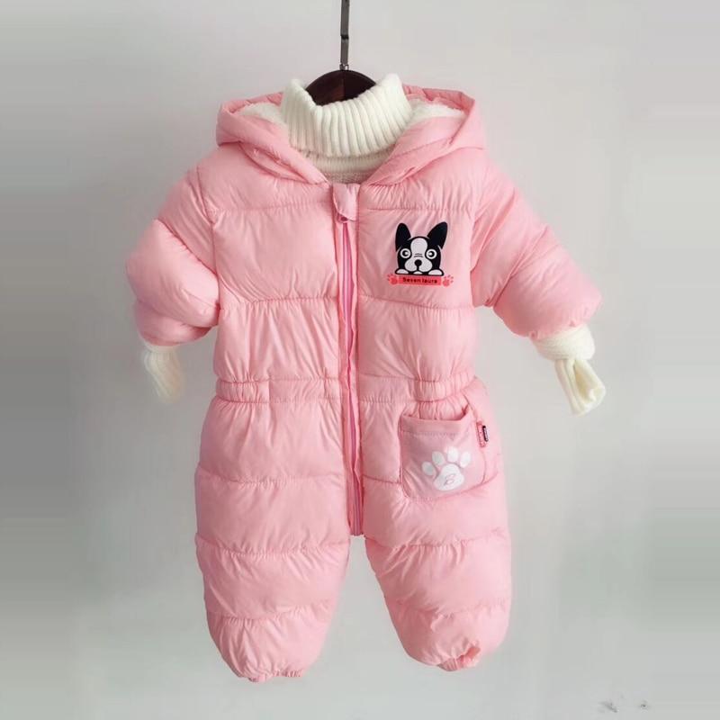 30a912c4f Newborn Boys Girls Romper Winter Toddler Jumpsuits Wear Warm Cute ...