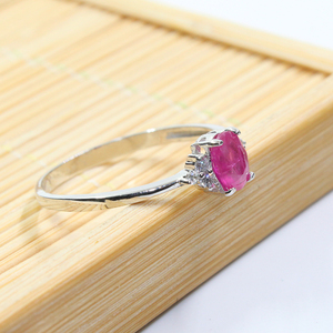 Image 4 - Real 925 silver gemstone ring for engagement  0.5 ct natural ruby silver ring solid silver ruby ring romantic gift for girl