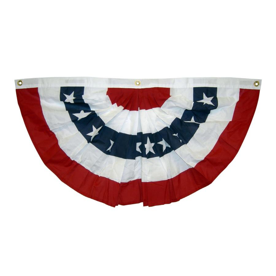 Johnin 1.5x3 Ft Printed Stripes Stars USA Pleated Fan