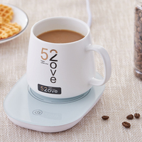 55 Celsius Heating Thermostat Milk Coffee Mug Cup with Wireless Charging Base Health Electric Heating Thermos Bottle Tea Heater