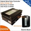 Con descarga Resister 48 V 1000 W Wind 1500 W Solar Buck y Boost híbrido MPPT controlador con salida TwDC las Interfaces