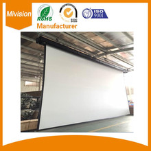 Large venue tab tensioned electrical cinema screen for commercial home theater giant motorized projection screen