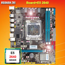 Promotion HUANAN ZHI X79 LGA2011 motherboard CPU combos processor Intel Xeon E5 2640 SROKR 2.5GHz all are tested before shipping(China)