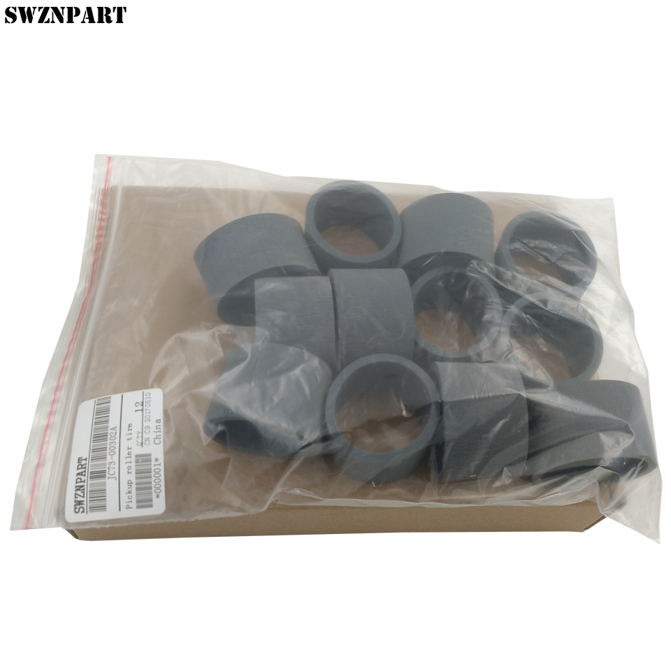 12 X Pickup roller tire for Samsung <font><b>ML</b></font> <font><b>1610</b></font> 2010 2240 2245 SCX 4321 4521 <font><b>ML</b></font>-<font><b>1610</b></font> <font><b>ML</b></font>-2010 <font><b>ML</b></font>-2240 SCX4521 JC73-00302A JC73-00211A image