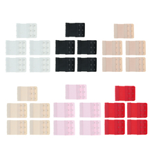 5 Pieces Bra Extender Strap Extension 3 Hooks 2 Rows Replacement Elastic Women Nylon Clasp Clips
