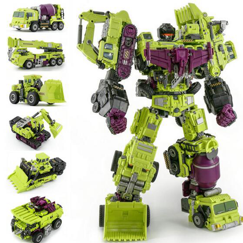 JinBao Devastator Transformation G1 GT Oversize 6 IN1 Bonecrusher Scrapper Gravity Mixmaster Hook KO Action Figure Robot Toys