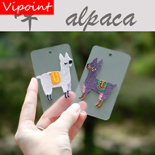 VIPOINT embroidery vicuna patch cartoon animal patches badges applique for clothing LX-6