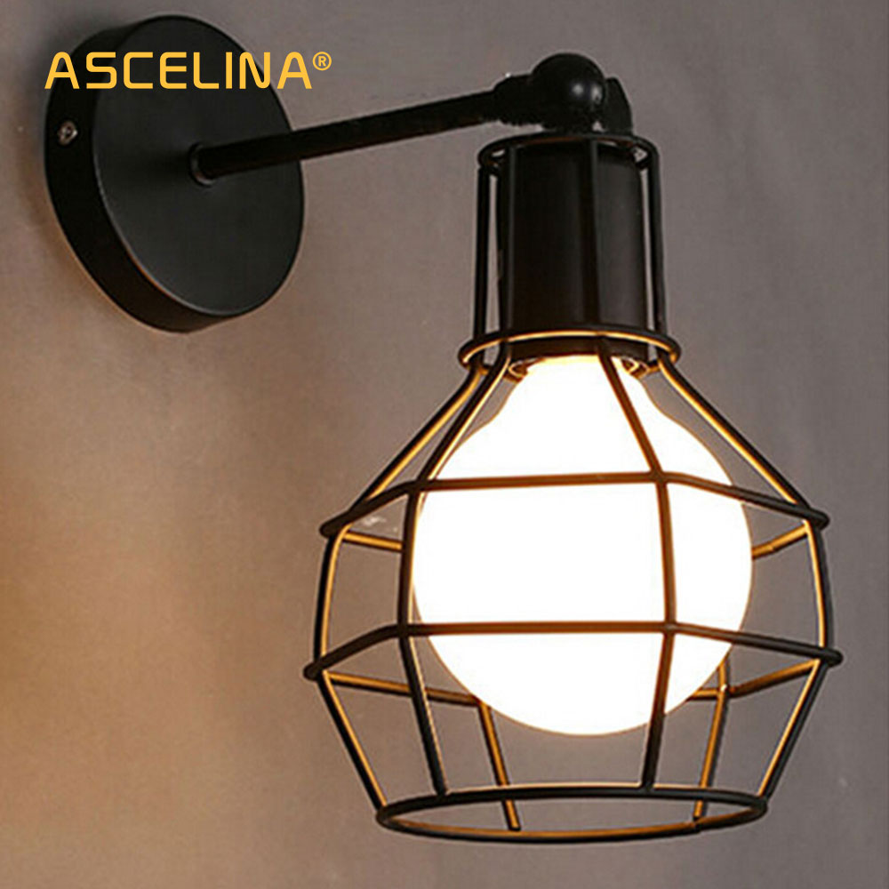 Vintage Wall Lamp Industrial wall light LED Sconce American Retro wall lamp Metal cover light Home decoration lighting fixture