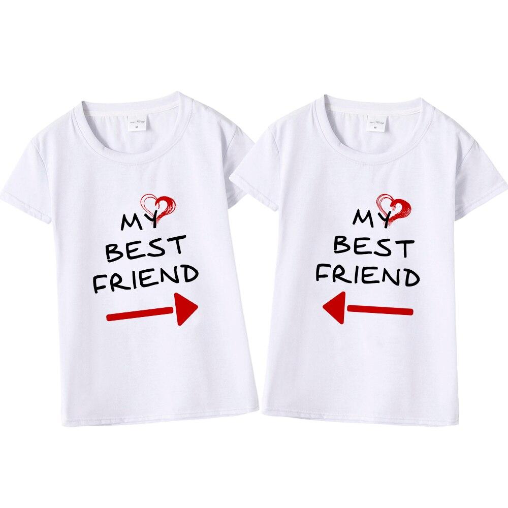 7f04cbfee Women Cute Best Friend Matching Letter T-Shirt BFF T Shirt Women Lovers Tee  Shirt