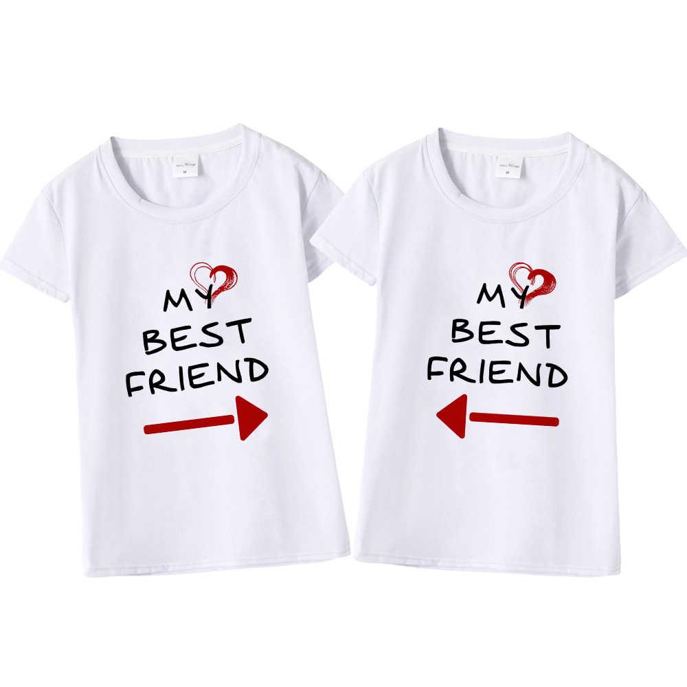 b446d440e Women Cute Best Friend Matching Letter T-Shirt BFF T Shirt Women Lovers Tee  Shirt
