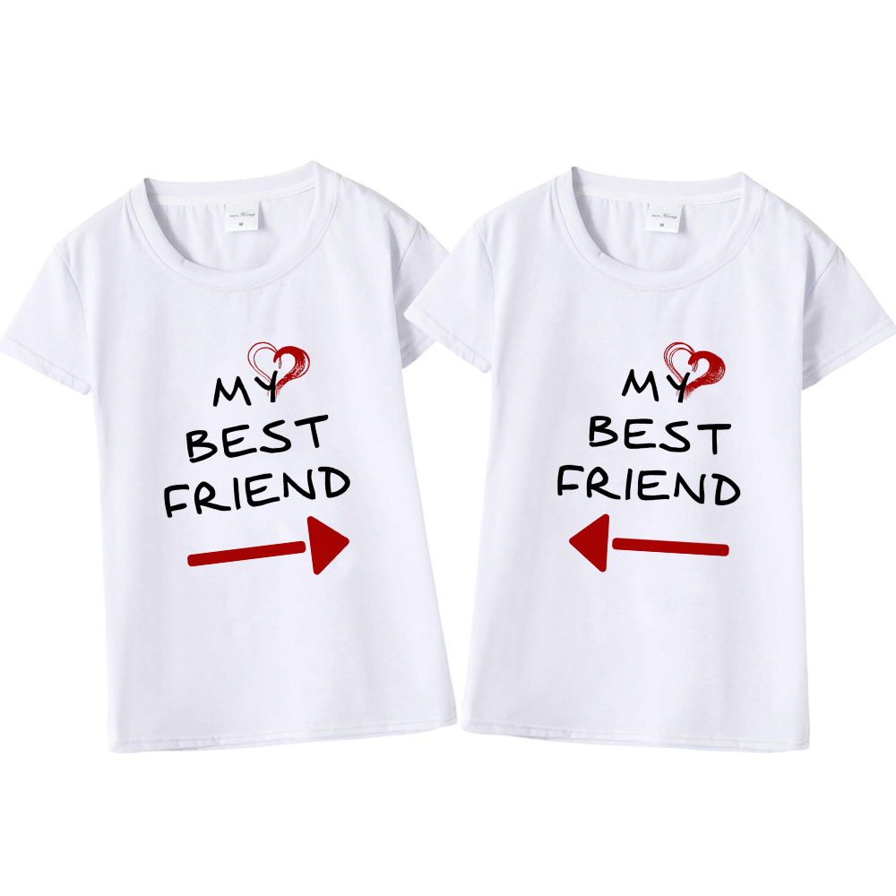 get online los angeles selected material US $5.59 30% OFF|Women Cute Best Friend Matching Letter T Shirt BFF T Shirt  Women Lovers Tee Shirt My Best Friend Printing Tshirt Femme Clothes-in ...