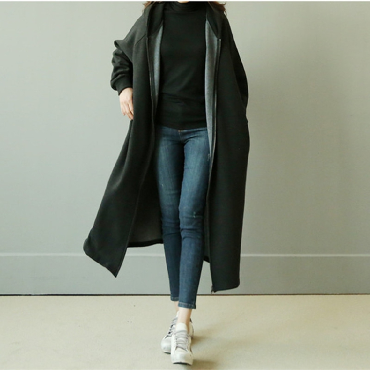 hooded loose 2018 Autumn New Woman Classic Double Breasted Trench Coat Waterproof Raincoat Business Outerwear