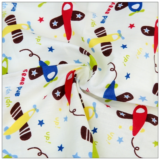 100 Cotton Fabric With Printed Cartoon Baby Bedding Textiles Home