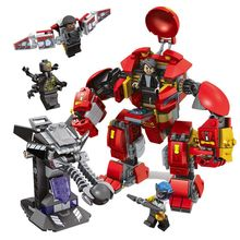 Building Blocks Toy Compatible With Marvel Super Heroes The Avengers Deadpool Magneto Vardy's Ice Vulture Glider lion Laval 1pcs