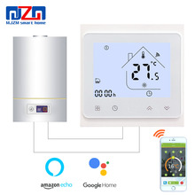 MJZM BGL-002-WiFi Thermostat Temperature Controller for Gas Boiler Alexa Google Home Control Thermoregulator for Warm Room