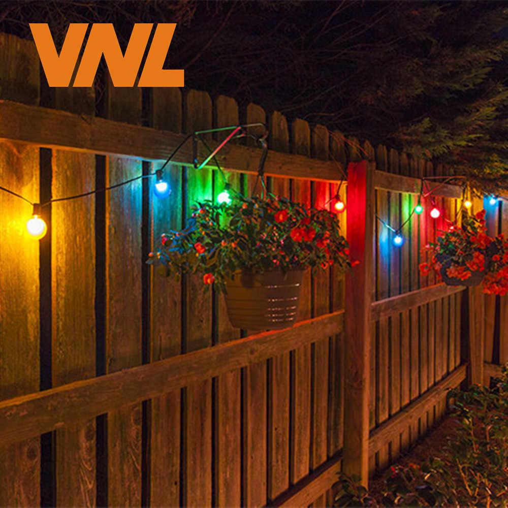 VNL IP65 LED Globus G50 Multicolor Bulb String Anschließbar Outdoor Bunte String Lichter Für Hochzeit Weihnachten Girlande Party