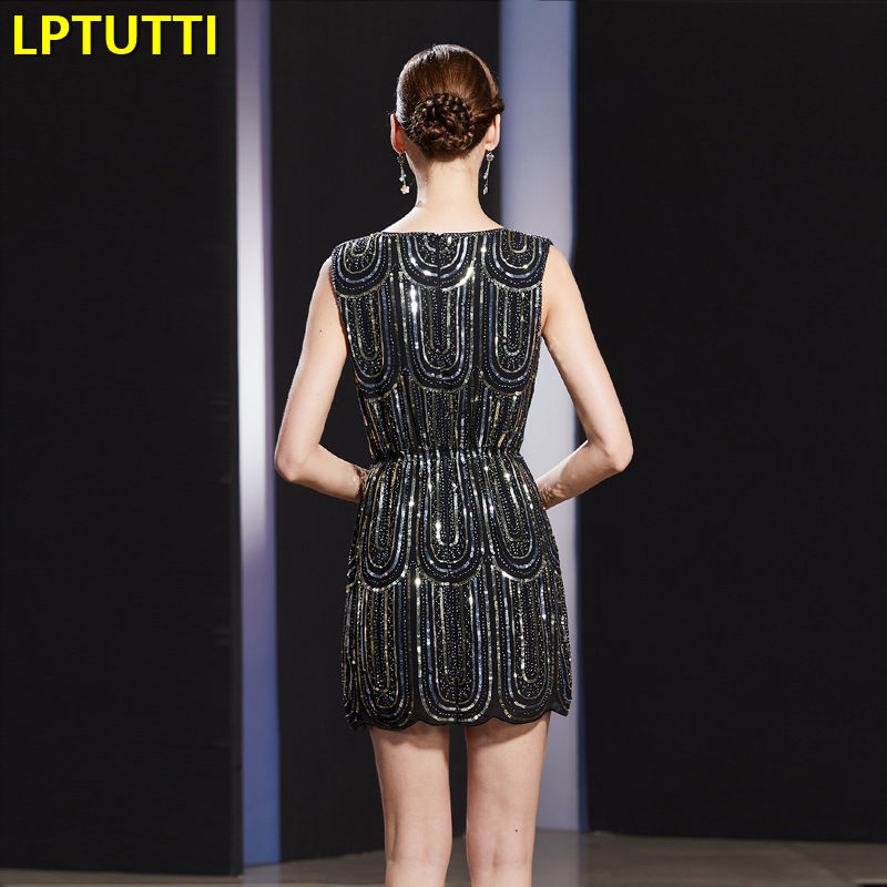 LPTUTTI Sequin New Sexy Woman Beading Social Festive Elegant Formal Prom Party Gowns Fancy Short Luxury Cocktail Dresses