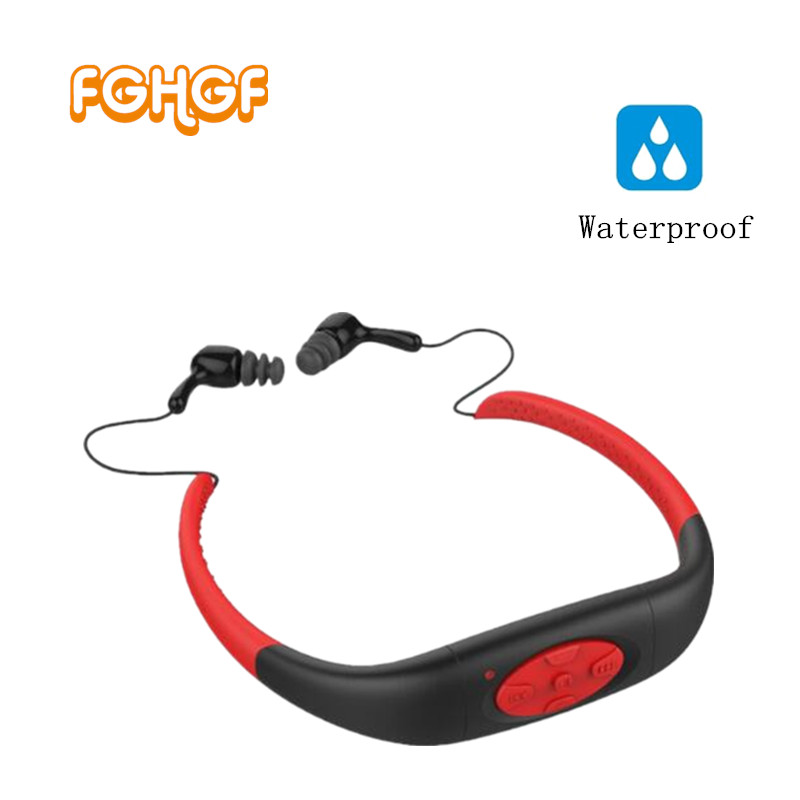 цена на 2017 Version 4GB Waterproof IPX8 Sports MP3 Player Neckband FM Radio Swimming Surfing Running MP3 with Earphones Underwater