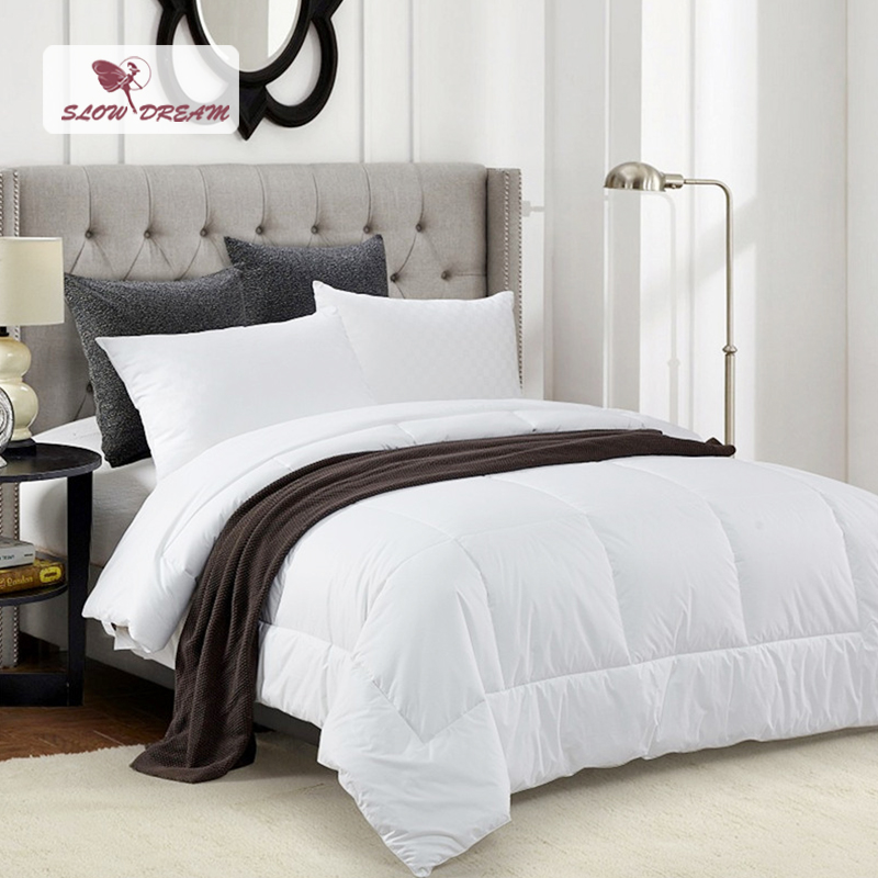 slowdream white cotton duvet soft quilt comforter blanket white bedding filler twin full queen. Black Bedroom Furniture Sets. Home Design Ideas