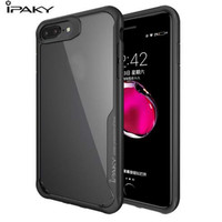 IPAKY Luxury Band Heavy Duty Clear Cover For IPhone 7 Case Flexible Bumper Transparent Back Capa