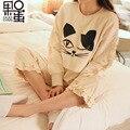 Maternity Spring and Autumn Long-sleeved Pajamas Ms. Cartoon Month of Service Cotton Breastfeeding Nursing Home Pyjamas