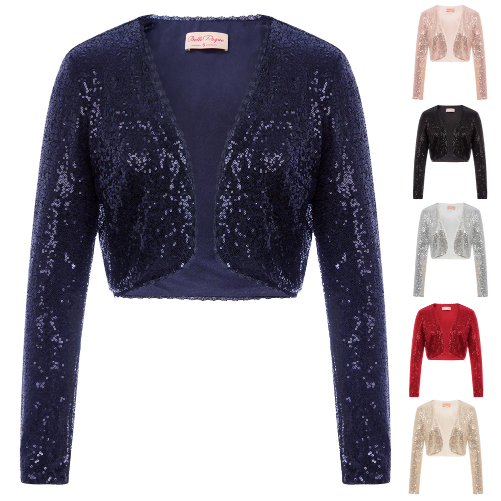New Ladies Womens Cropped Lace Shrug Balero Open Lace Evening Cardigan Top s8-18