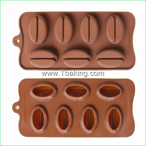 TC New coffee Bean Shape Chocolate Candy Mold Ice Mold