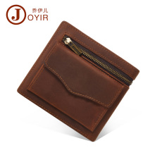 JOYIR Men Genuine Leather Wallet Short Small Wallet Male Slim Purse Mini Wallet Coin Purse Money Credit Card Holder Bag 2018