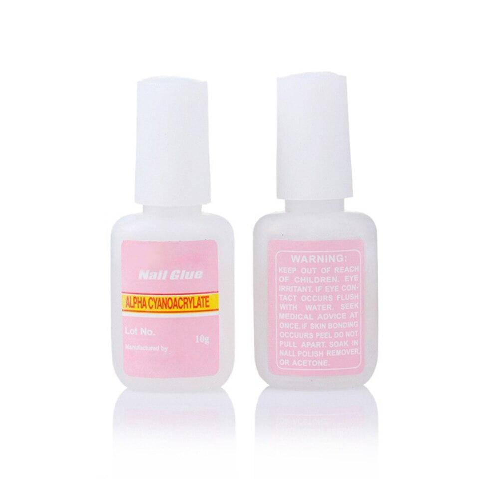 1 PCS False Glue Nail Art Tips Strong Nail Glue with Brush Glue for ...