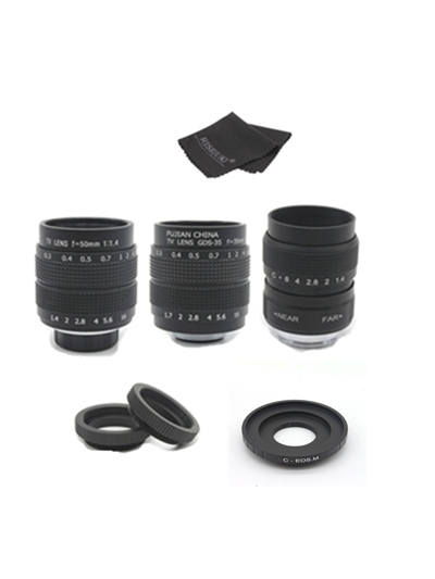 FUJIAN 3in1 CCTV 25mm f1.4 Lens / 35mm f1.7 Lens/ 50mm f1.4 Lens Mount Ring Kit for Nikon 1 J5 J4 J3 J2 J1 V3 V2 V1 S1 S2 цена
