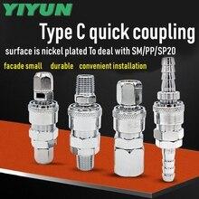 YIYUN Typ C schnell kupplung Pneumatische werkzeuge SH20 SH20 + PH20 SH30 SH30 + PH30 SM20 SM20 + PM20 SM40 SM40 + PM40 SP10 SP20 SP20 + PP20 SP30