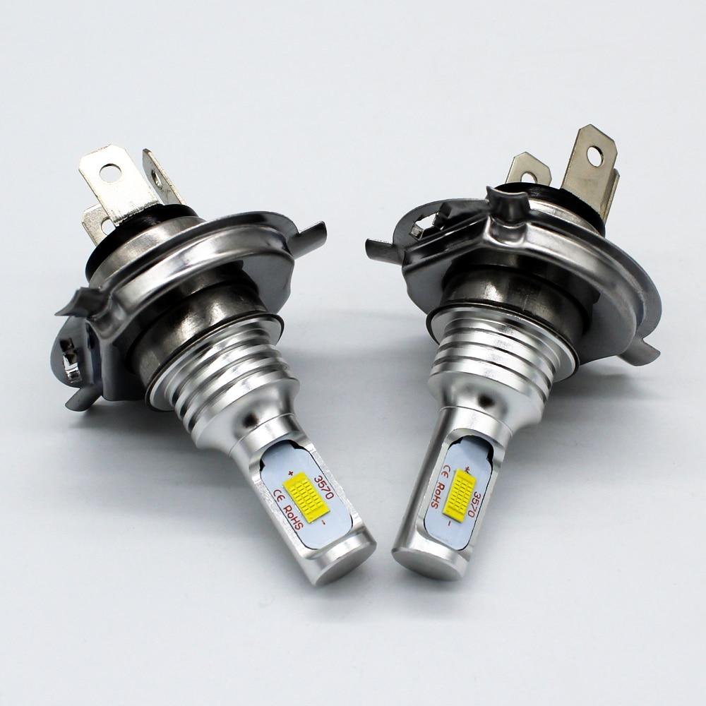 CJXMX Super Bright LED Fog Light Bulbs H4/9003/HB2 Single Beam 80W 1600LM 6500K Car Headlight Fog Lamp Driving Lamp White 12V
