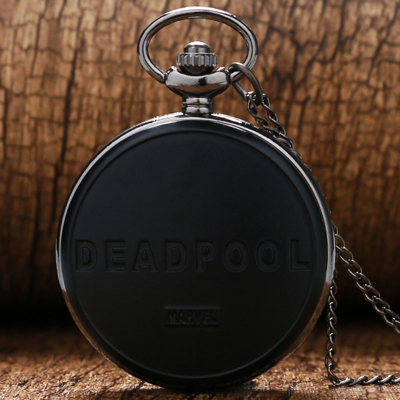 Рождественский подарок Человек-паук Дэдпул карманные часы Новые мутанты часы цепь крутое ожерелье мужские и женские детские кварцевые часы P367