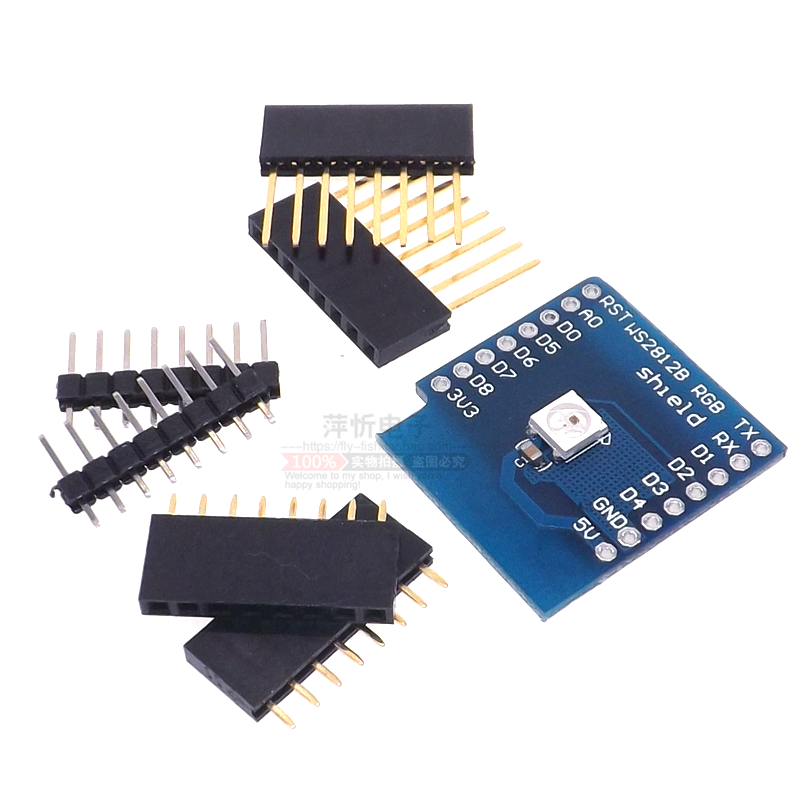 !!!Free shipping 5PCS W2812 RGB full-color module FOR D1 mini WIFI extension board learning board RGB driver module