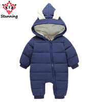 6M 24M Baby Boys Girls Coats Brand 2017 Snow Wear Infant Toddler Boys Rompers Coats Casual