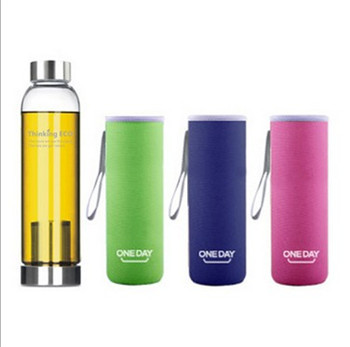 550ml ECO Glass Water Bottle Chinese Tea Interval Travel Sports Bottles Leak Proof - DOBETTER TECHNOLOGY store