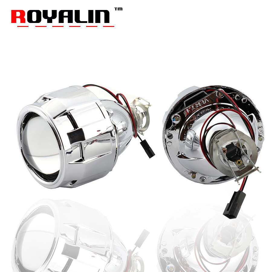 ROYALIN Upgrade 7 1 Version H1 Mini HID Xenon 2 5 Projector Headlight Lenses H4 H7