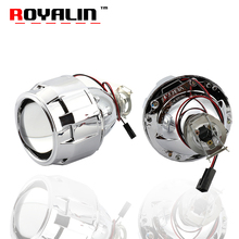 "ROYALIN Upgrade 7.1 Version H1 Mini HID Xenon 2.5"" Projector Headlight Lenses H4 H7 Car Styling For Peugeot  Ford Honda W203 C1"