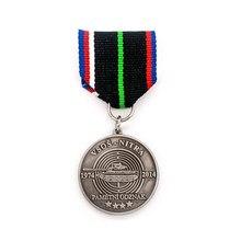 Manufacturer custom antique silver medal new plating round zinc alloy badge