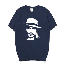 Summer Johnny Depp T Shirts Men O-neck Cotton Short Sleeve T-shirt Mans Hip Hop T-shirt Tees OT-204 Fashion Classic Unique gift ot door controller do3000 easy con t