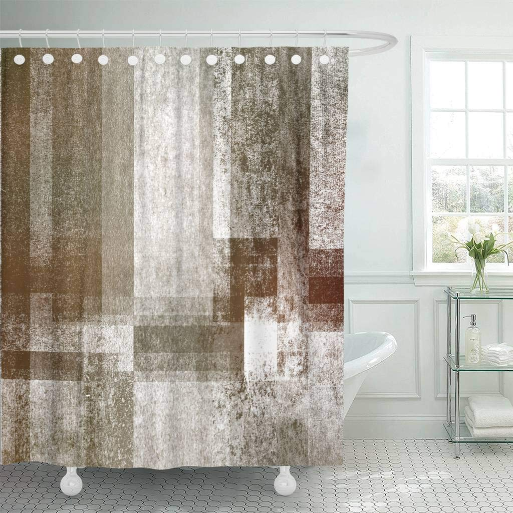 Shower Curtain With Hooks Brown Antique Beautiful Abstract Color Shading Textureold Style